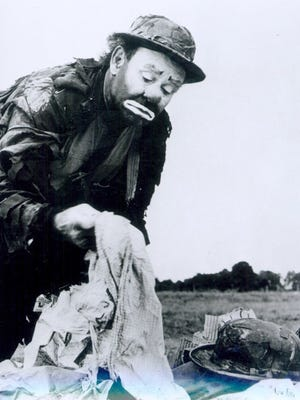 """Emmett Kelly, shown here in a early 1960s photo, was famous for portraying Weary Willie.  File photo/Journal & Courier Emmett Kelly (1898-1979), shown here in a early 1960s photo, was famous for portraying """"Weary Willie."""""""