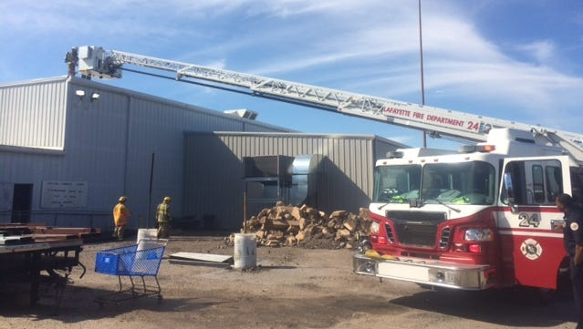 The Scott Fire Department responds to a fire at Single Source Supply Sunday morning. The fire resulted in minimal damage and no injuries.