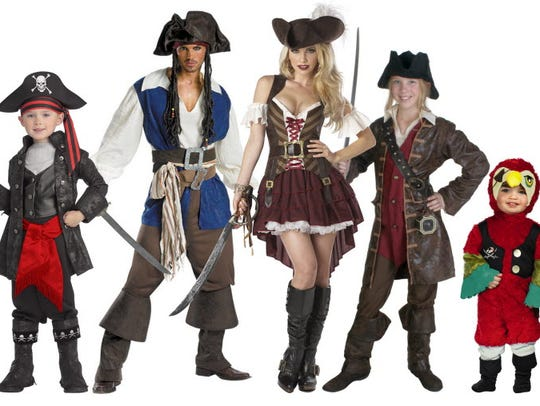 These pirate costumes range from $24.99-$52.99.