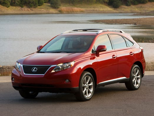 The 2012 and 2013 Lexus RX 350 crossover SUVs are among the about 260,000 vehicles recalled by Toyota for electronic safety systems that intermittently turn off.