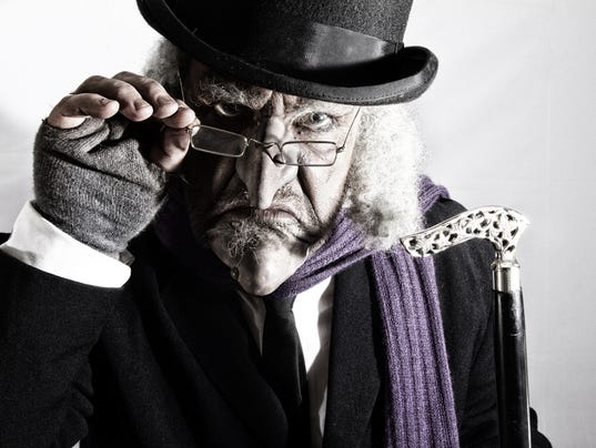 mature man in victorian costume