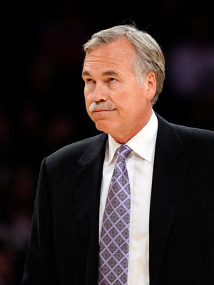 Mike D'Antoni had plenty of frustration in about two seasons as Lakers coach.