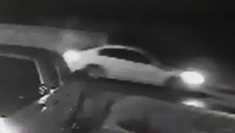 A white car is being sought in connection with vehicle burglaries Sunday in Lafayette Parish.