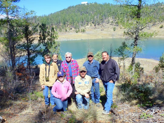 The osprey crew put the platforms in place Saturday at Grindstone Reservoir.