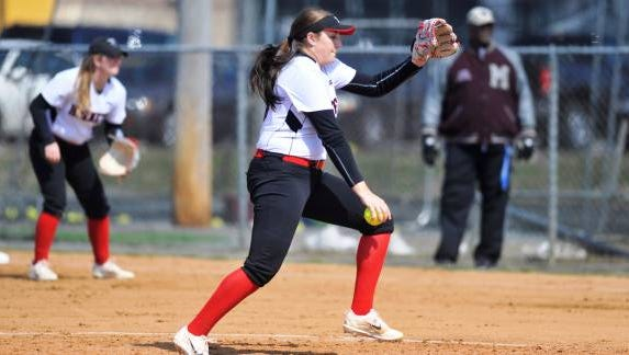 Delaware State pitcher Hannah Shields.