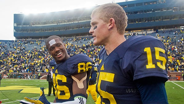 Jehu Chesson, left, and Jake Rudock