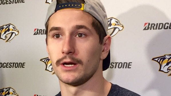 Forward Filip Forsberg talks about the Predators looking forward to returning home Saturday night after a five-game road trip where they went 1-3-1.