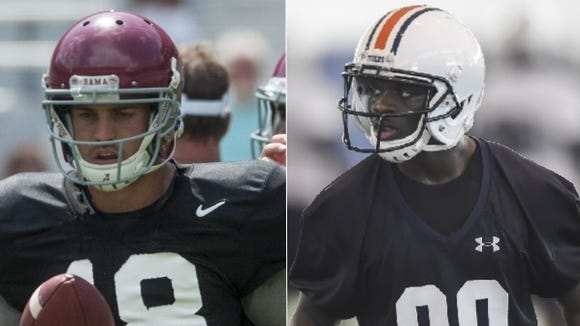 Cooper Bateman and Marcus Davis are preparing for the 2016 season that will be tough for Alabama and Auburn.