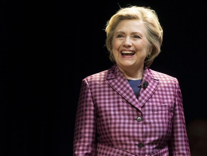 Clinton is interviewed at the Cheltenham Literature
