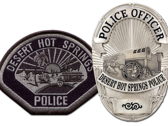 Desert Hot Springs police badge and patch.