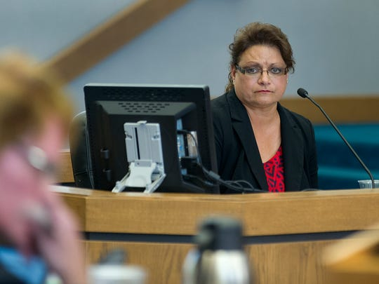 LCPD lead investigator Detective Irma Palos       testifies during the murder trial of Tai Chan Thursday afternoon.