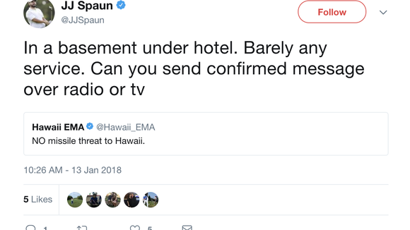 PGA Tour golfers in Hawaii freaked out by false ballistic missile alert