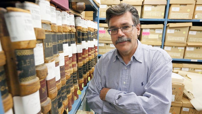 Peter Scheibner, the Rockland County Archivist photographed in the records room at the county archive building in New Hempstead on Friday, June 03, 2016.