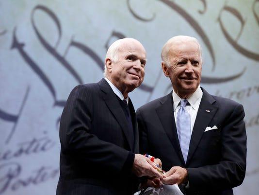 John McCain and Joe Biden
