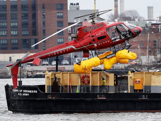 AP NYC HELICOPTER CRASH A FILE USA NY