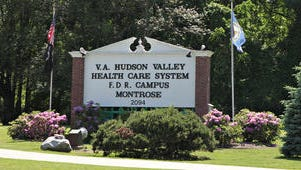A view of the sign at the VA Hudson Valley Health Care System in Montrose, photographed June 6, 2014.