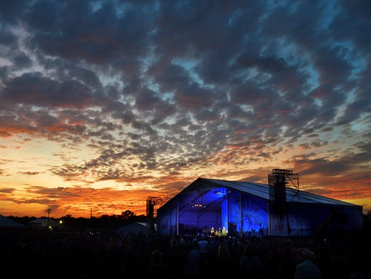 The sunset brings down the curtain on the last concert