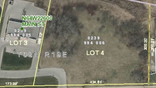 Lot 4, the site on Main Street purchased by Kwik Trip, across from Village Drive. Kwik Trip previously looked into building a location off of Highway 164 and Main Street, but ran into issues with county and state highway officials.