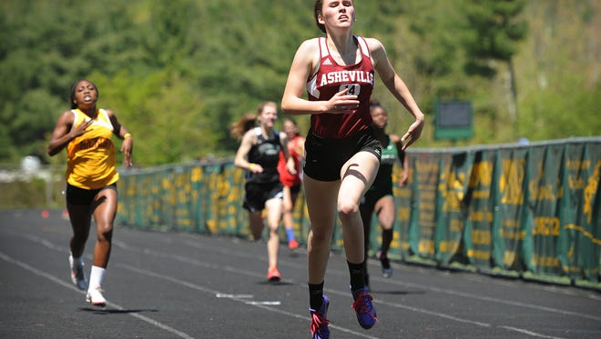 Asheville High's Pia Mackie has signed with the Naval Academy Preparatory School's track program.