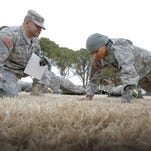 Soldiers compete in Dental Command-Central's Best Warrior Competition at Fort Bliss.