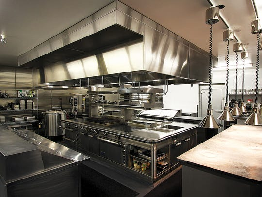 The kitchen was designed by the Weitsmans and their new chef, Austin Johnson.