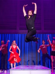 "Christopher Tierney flies high as Johnny in the current national tour of ""Dirty Dancing."""