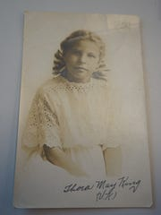 Thora May King was 11 years old in this photograph dated 1914.