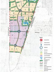 A map of what an expanded Sheboygan Business Center industrial park could look like on Sheboygan's far southwest side.