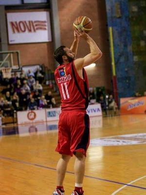 Brett Blizzard launches a jumper in one of his games.