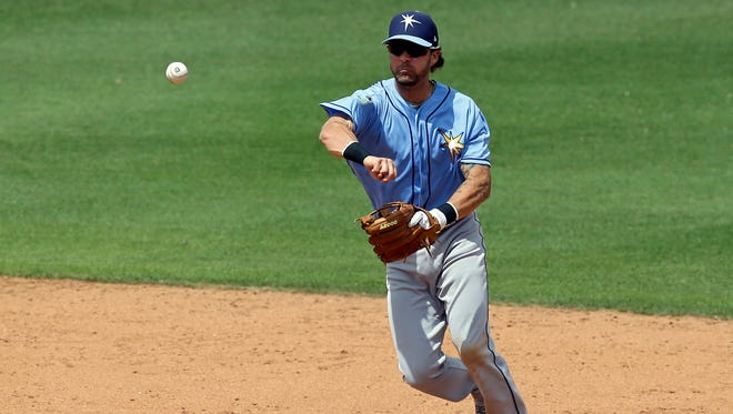 The Brewers claimed utility player Nick Franklin off waivers from the Tampa Bay Rays on Wednesday.