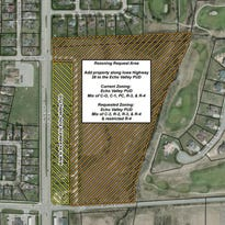 The Norwalk City Council is trying to rezone property located east of Highway 28 and north of Beardsley Street.