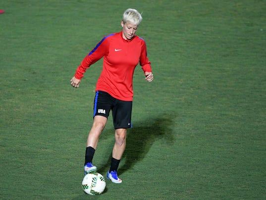Olympics: USA Women's Soccer Team Training