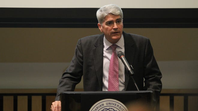 Andrew Manion started his new position as president of Marian University in Fond du Lac on Wednesday.