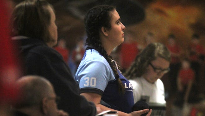 Kara Strong of Boone County gets ready for a shot during the KHSAA state bowling singles championships Thursday.