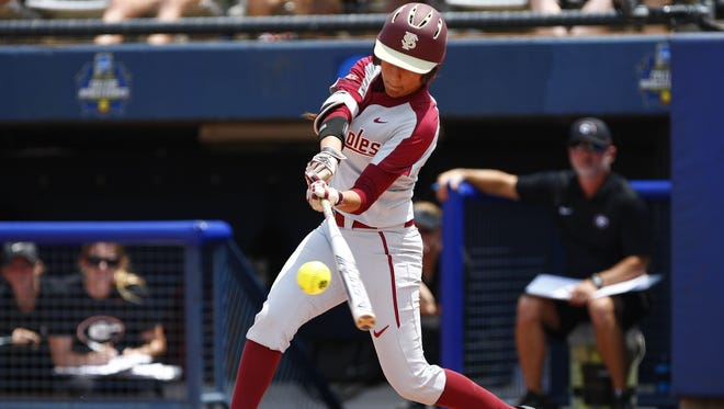 Florida State outfielder Zoe Casas finished with three runs batted in in FSU's 7-2 win over Georgia Saturday.