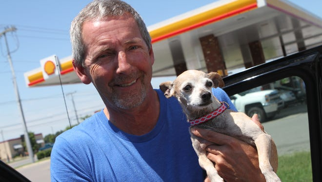 Jeff Buckman is reunited with Lola, a dog he lost three years ago.