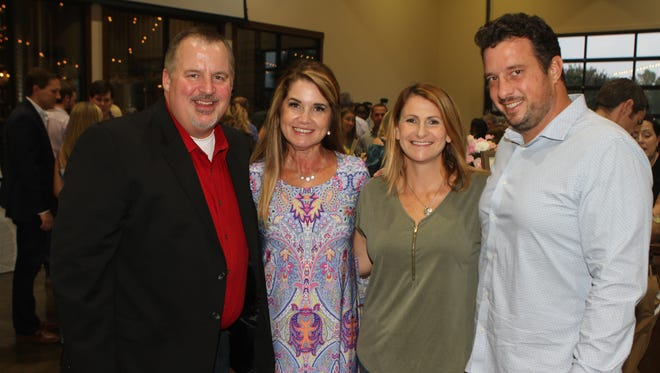 Tony & Nina Suggs, Shannon & Chris Hester at Food Initiative's Fine Fettle Saturday night at Old Glory Distilling Co.