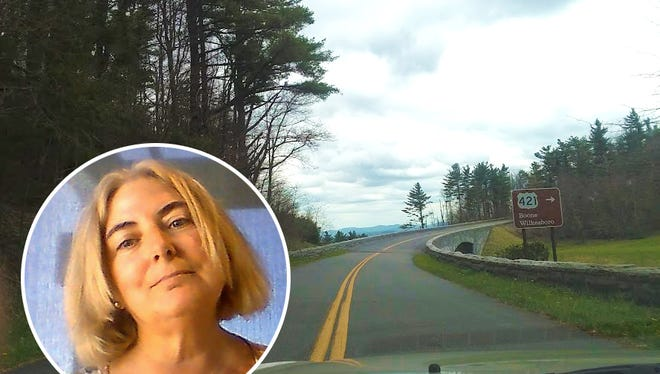 Susan Beaver Thompson traveling the Blue Ridge Parkway with #TripForPeace, a peace journalism adventure showcasing peacebuilders in action across America.