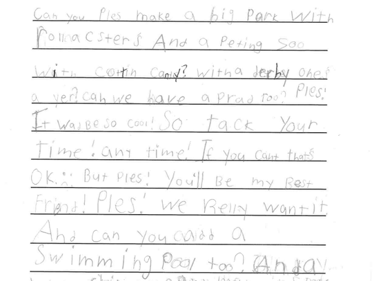 Students in Carole Matson's first-grade class at Cushing Elementary wrote to Delafield Mayor Kent Attwell about their concerns.