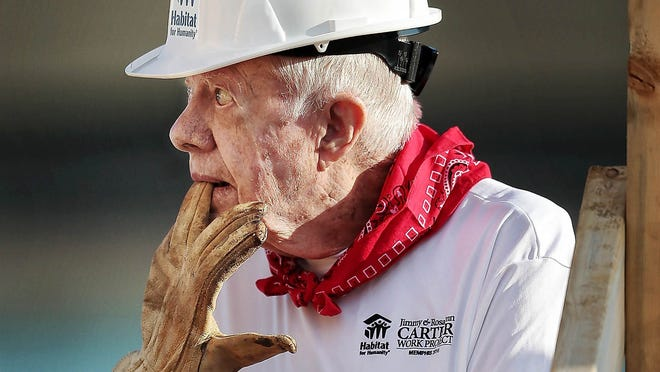Jimmy Carter in Nashville: Ex-president builds Habitat for Humanity homes