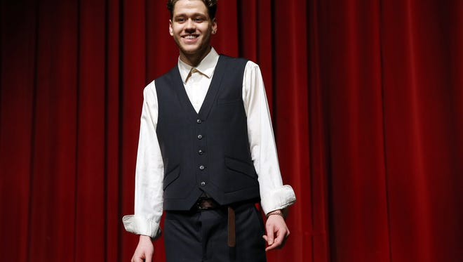 Tap dancer Joe Van Loon during the Morris Educational Foundation Media Day at Morristown High School for its 9th annual Morristown Talent Show renamed Morristown ONSTAGE. The event will take place on February 24, 2016 at the Mayo Performing Arts Center. January 9, 2016, Morristown, NJ.