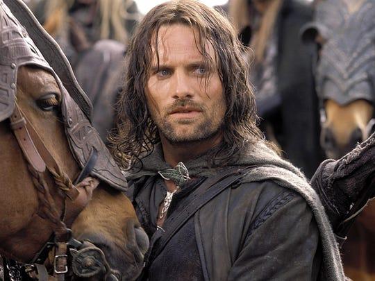 Aragorn (Viggo Mortensen) in a scene from The Lord