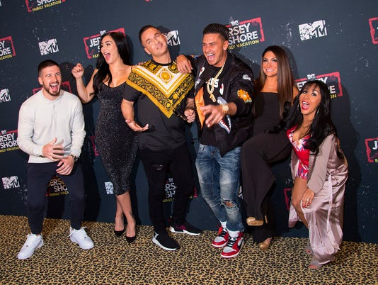 Vinny Guadagnino, Jenni 'JWOWW' Farley, Mike 'The Situation' Sorrentino, Paul 'Pauly D' DelVecchio, Deena Nicole Cortese, Nicole 'Snooki' Polizzi attend