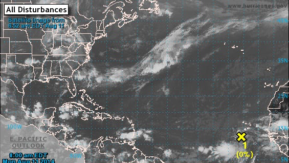 A disturbance off the Cape Verde islands is being monitored