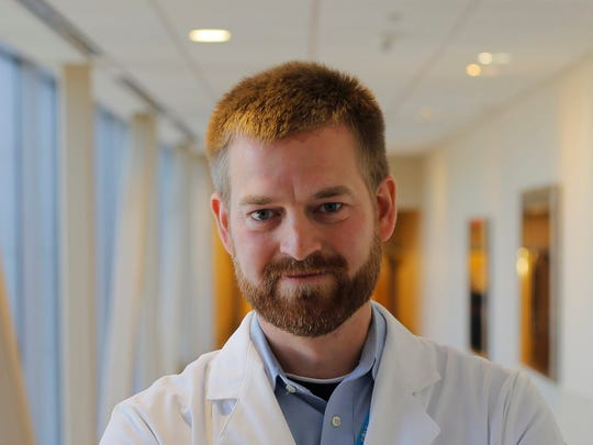 Dr. Kent Brantly, who was infected with Ebola in Liberia, poses for a photo in Fort Worth in 2016.