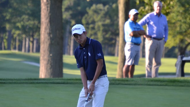 Ethan Ng barely reacted when a putt for birdie on the second hole of a playoff tumbled in, giving him the Carter Cup.