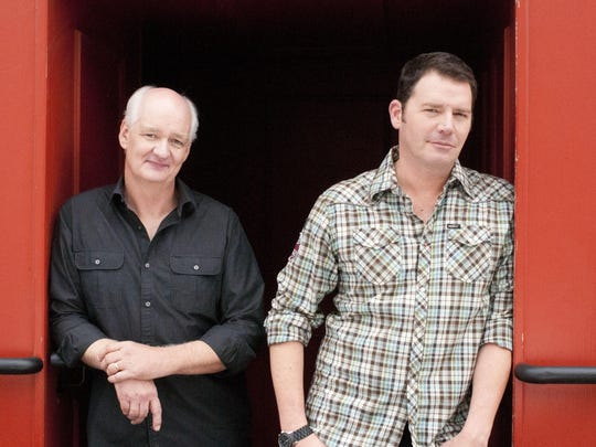 Colin Mochrie, left, and Brad Sherwood will bring their
