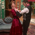 """Gerrie Benzing and David Rode in Cultural Park Theatre's """"Angel Street"""""""