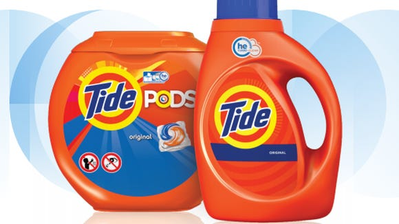 Tide Pods and detergent.