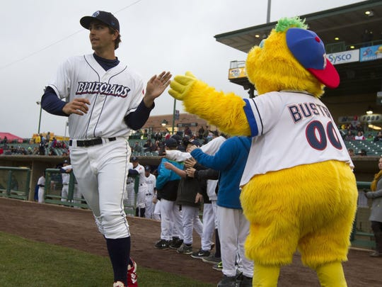 The Lakewood BlueClaws can rely on their mascot, Buster,